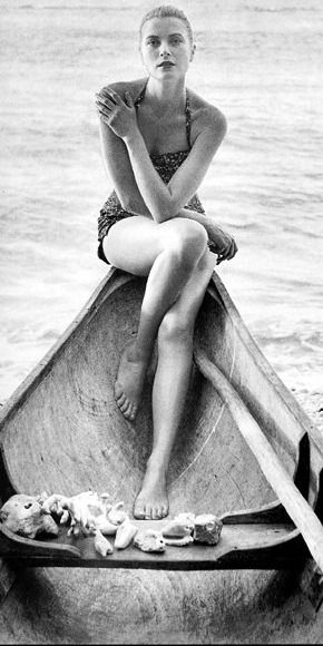 Grace Kelly in a boat