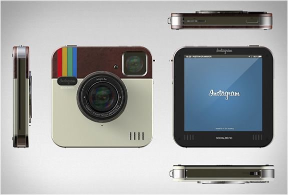 Instagram Socialmatic Camera - Branded Instagram or not, I want Polaroid to buy this and make it happen.Instagram Cameras, Gadgets, Real Life, Stuff, Cameras Concept, Instagram Socialmatic, Concept Cameras, Products, Socialmatic Cameras
