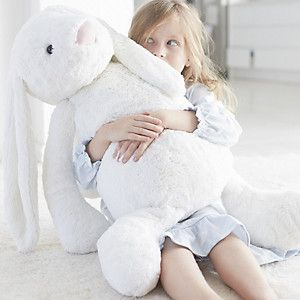 The White Company | Jellycat Giant White Bashful Bunny. We love this exclusive white giant version of the incredibly popular Jellycat bunny and, time after time, so do you.