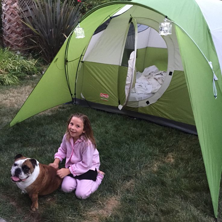 Bully's first night camping with Georgia in Marin.