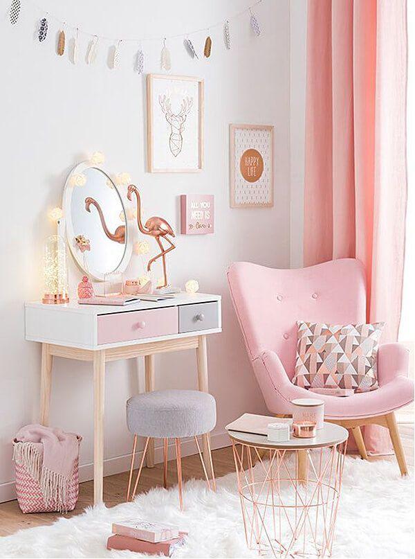 Copper and blush home decor ideas Pretty In Pink Bedroom Palette