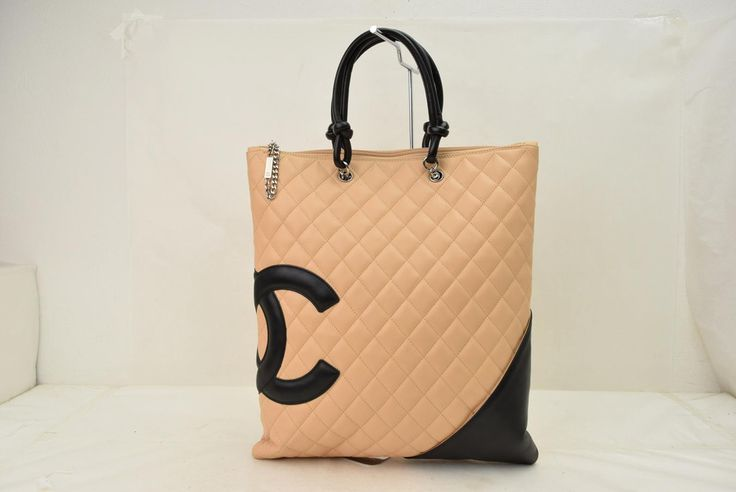 "Authentic Chanel Hand Cambon Line Beige Leather Bag – eModa Outlet  to avail 10 % discount use Code ""NEW10"" on checkout"