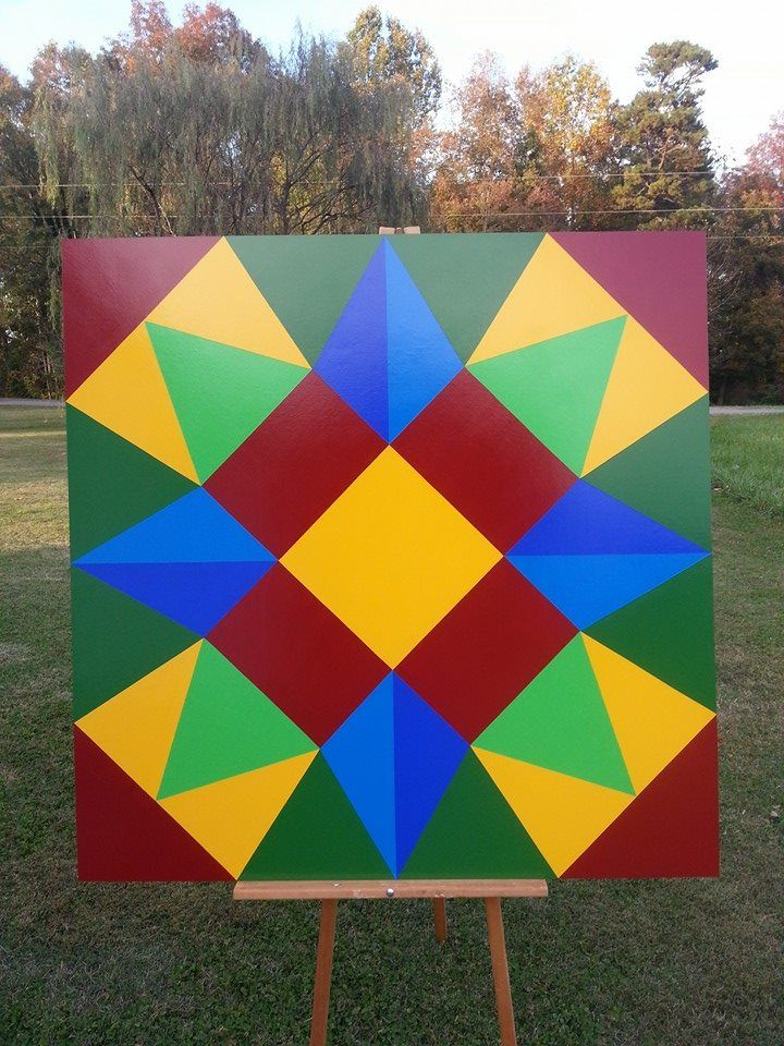 """North Carolina Star"" - Barn Quilt Gals"