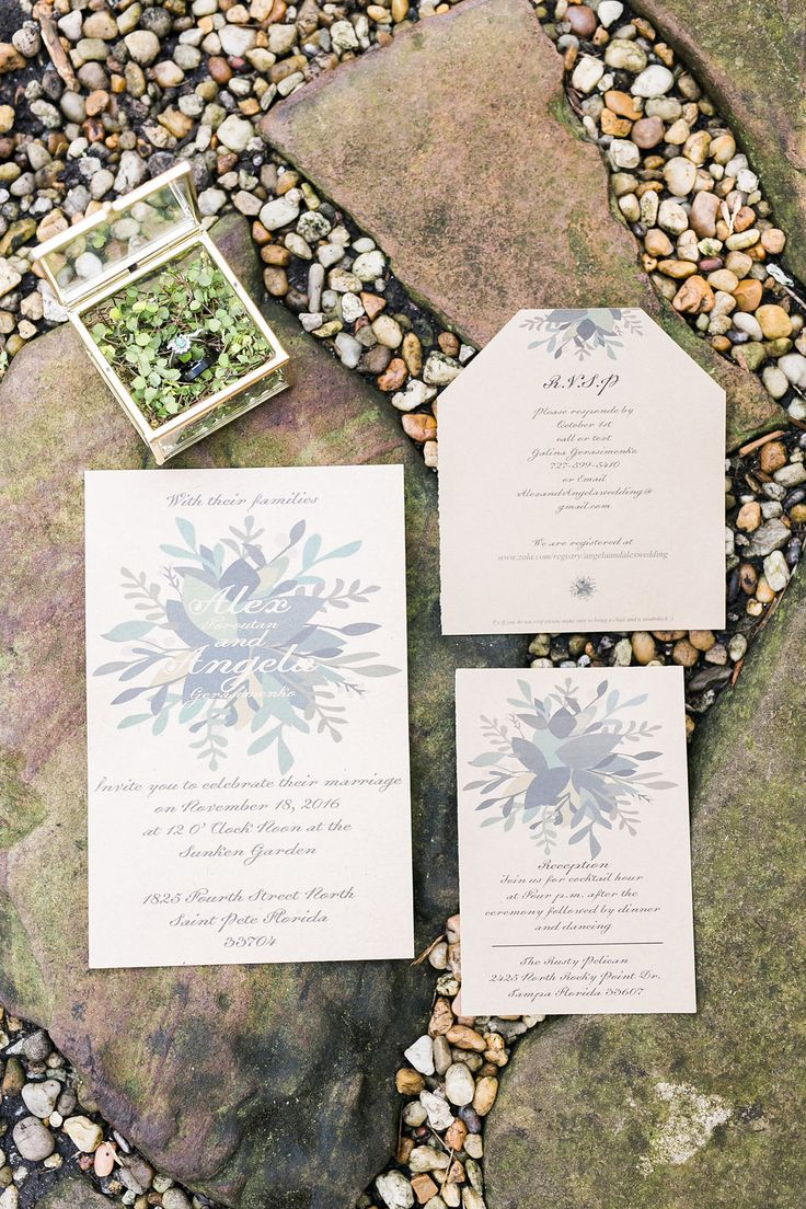 wildflower wedding invitation templates%0A Gold and Greenery Garden Wedding  Garden Wedding Invitations