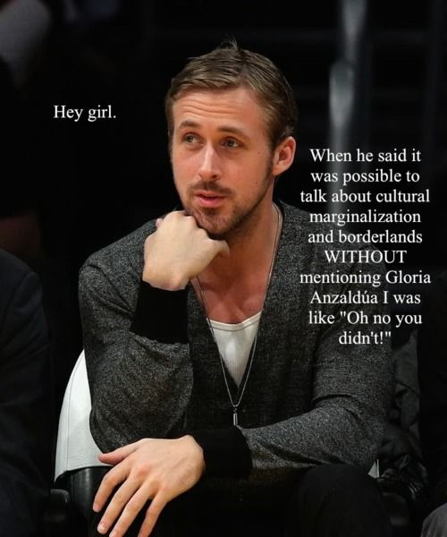 Feminist Ryan Gosling. It  doesn't get better than this. Unless it was Benedict Cumberbatch.