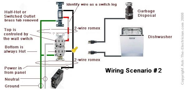 dishwasher rough in diagram how to wire a garbage disposal - google search ... dishwasher hard wiring diagram #13