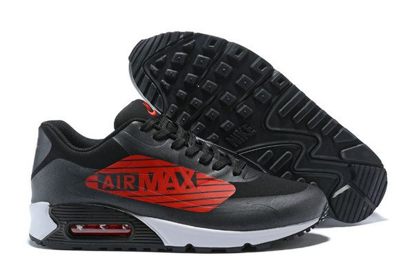 watch eb8c9 4d6e3 Nike Air Max 90 Ns Gpx Big Logo Aj7182-005 Black Red Shoe How To