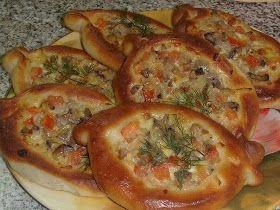 Лодочки с сырно-грибной начинкой