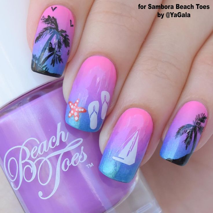 Toe Nail Art Tutorials: 17 Best Ideas About Beach Vacation Nails On Pinterest