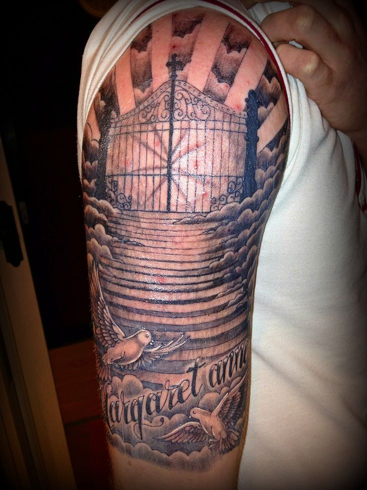 religious half sleeve tattoo ideas pinterest tattoo tatting and dope tattoos. Black Bedroom Furniture Sets. Home Design Ideas