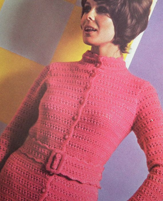 Vintage 1960s 1970s Crochet Pattern Womens by sewmuchfrippery