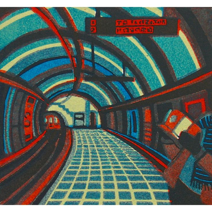 Gail Brodholt Print - First Edition l London Transport Museum Shop