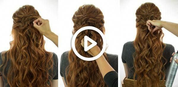 Video step by step for a formal half up style using the GHD Soft Curl Iron H