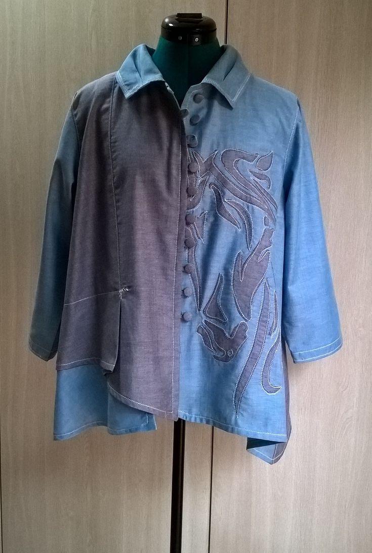 Butterick 6325 Applique shirt