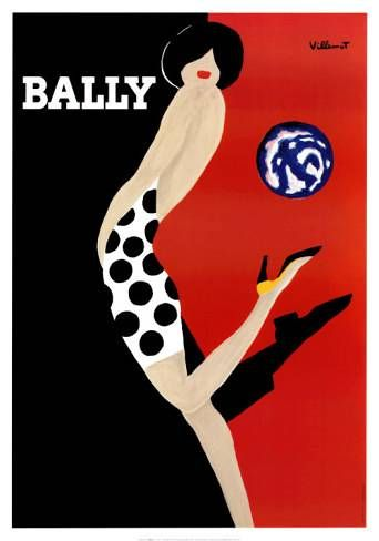 Bally liquor advertisment. The contrast between the black and the whitemake the lightly colored woman in the middle of the two colors stand out. It is only showing the things that are necessary, in this case it is just showing the woman figure, her hair and her lips.