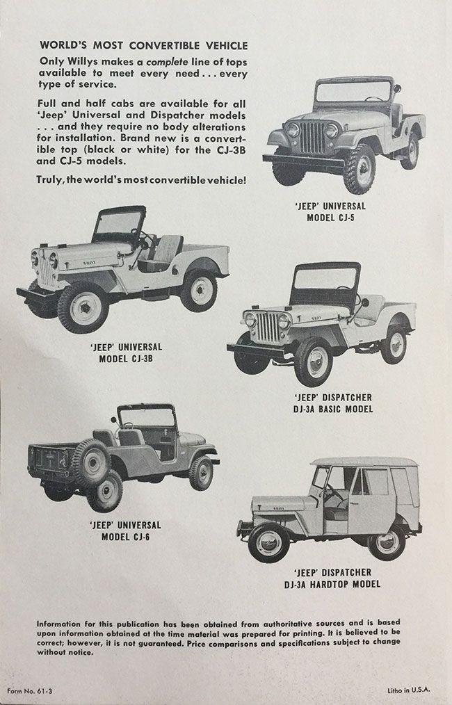 1961 03 Jeep Vs Scout Brochure3 Lores Willys Jeep Jeep Cj Jeep