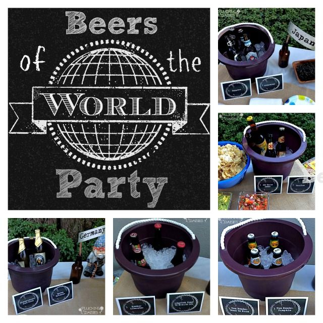 Beers of the World Party - Great idea for a fun, low-maintenance party!  | Pluckingdaisies.com