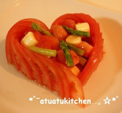 ハートな♡トマトサラダ by atuatu [クックパッド] 簡単おいしいみんなのレシピが228万品