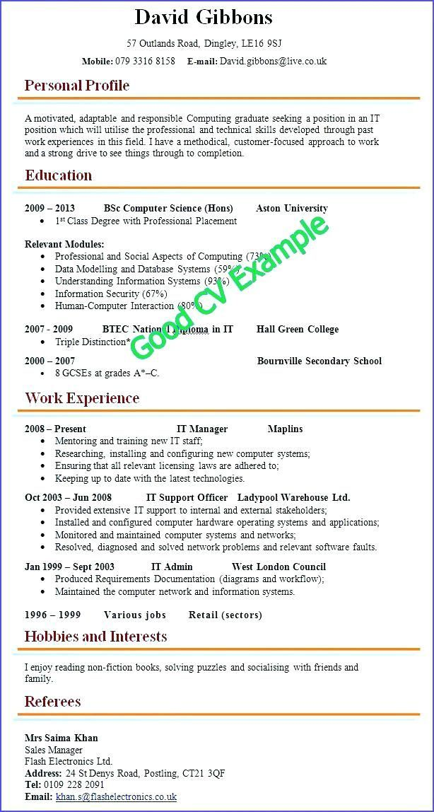 Good Resume Examples Job Resume Samples Good Cv Job Resume Examples Resume Examples In 2020 Good Cv Job Resume Samples Good Resume Examples