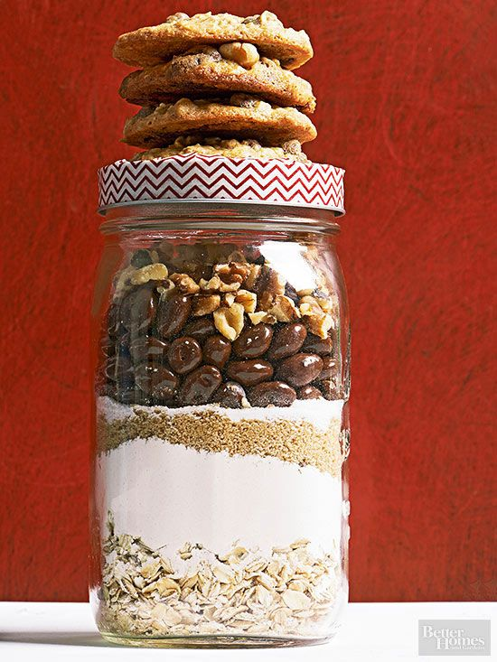 Chocolate Covered Raisin Cookies In A Jar