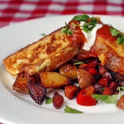 Chorizo Hash Browns with Spicy French Toast - weekend brunch is ...