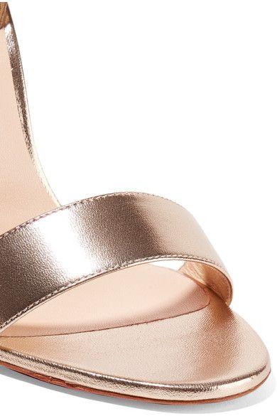 Christian Louboutin - Samotresse 100 Metallic Leather Sandals - Gold - IT40.5