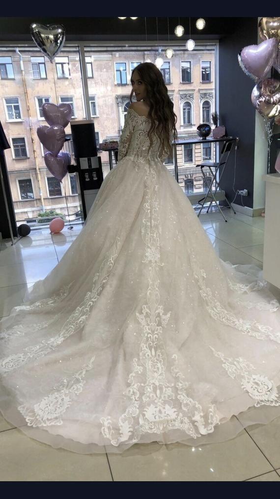 0244da3873fde A line wedding dress Joslin by Olivia Bottega. Lace wedding dress ...