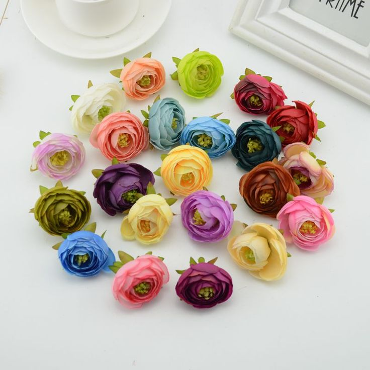 1pcs silk roses Flower Camellia DIY Wreath Artificial Flowers for Home Festival Wedding car Decor Bride headwear accessories