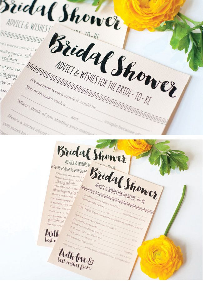 fun printable bridal shower advice cards free download all things wedding bridal shower bridal bridal shower advice