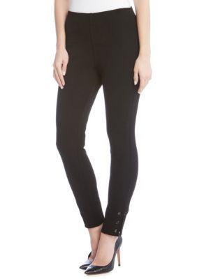 Karen Kane Women's Grommet Detail Piper Pants - Black - Xs