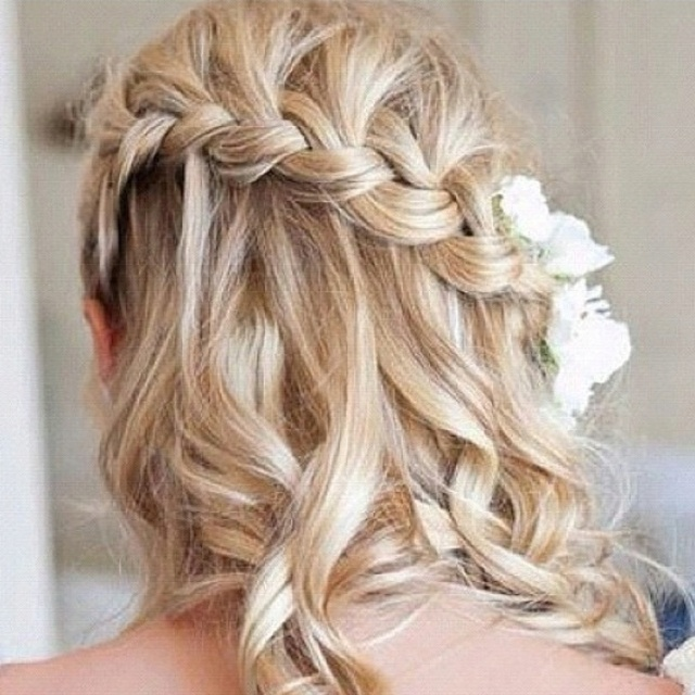 hair braid side fall & curls   Allison   Pinterest