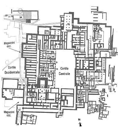 Mappa del palazzo di Cnosso