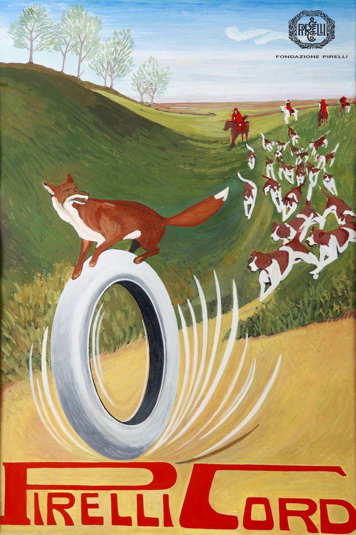 Vintage Italian Posters ~ #illustrator #Italian #posters ~ Advertisement for Pirelli tyres, 1913 http://www.fondazionepirelli.org