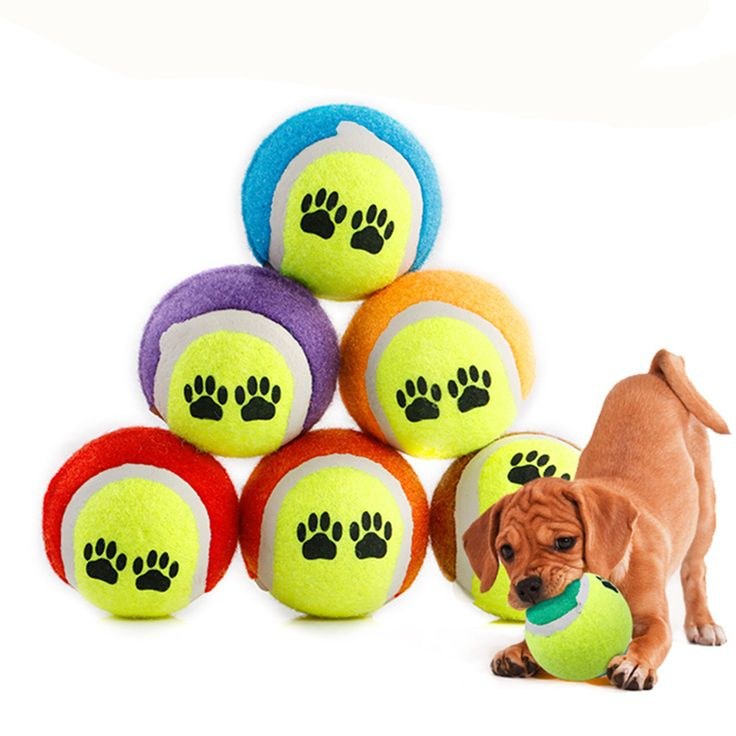 [3pcs/Lot] Tennis Ball Dog interactive Toys Run Fetch Throw Play Pet toys for Dog Games Chew Toy For Dog's Pet Supplies 6.5cm // Worldwide FREE Shipping //     #supplies