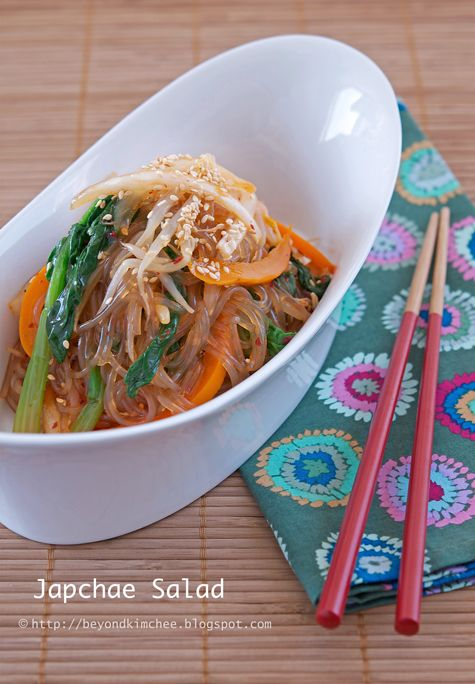 159 best yum asia images on pinterest asian food recipes asian korean japchae glass noodles salad forumfinder Choice Image