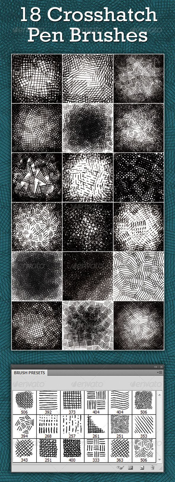 Crosshatch Pen Brushes