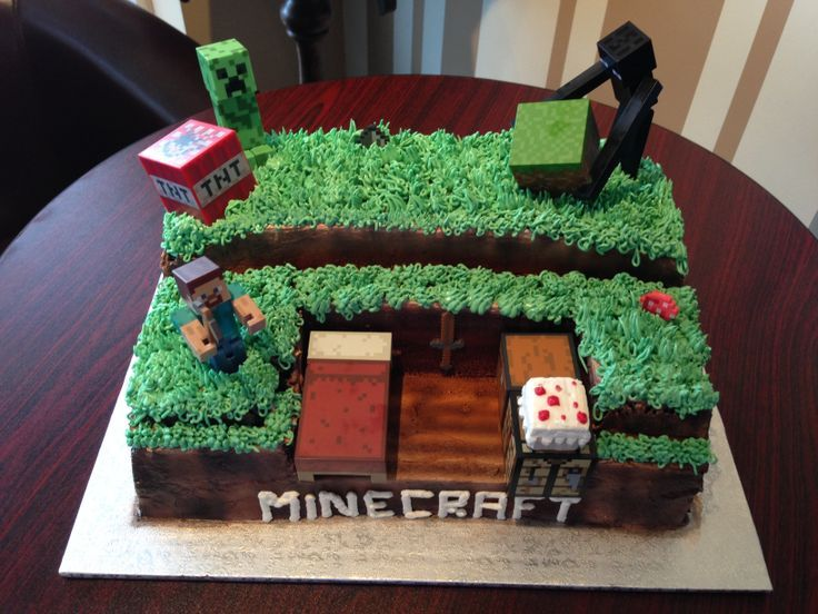 Minecraft Birthday Cake for Boys | Minecraft birthday cake for a little boy
