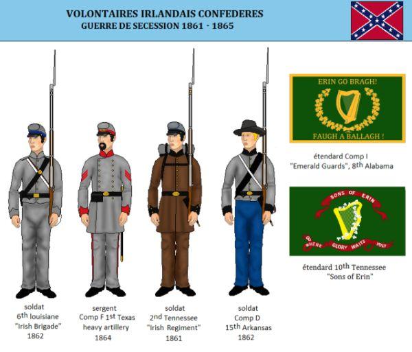 Les Irlandais au service de la Confédération