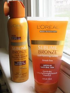"Another pinner said, ""Best Tanner ever, this is what I use and I stay tanned all year for cheerleading. The tutorial for this picture is a little much, you can just use the gel on your legs and body (use sparingly on your knees, feet, and arms)."""