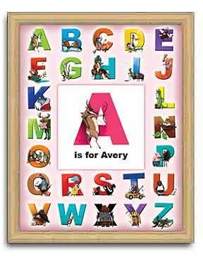 click here for personalized alphabet print for little girls room there are fun illustrations of every - Fun Letters To Print