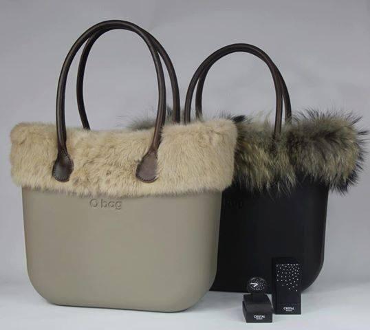 Grey and Black O bag