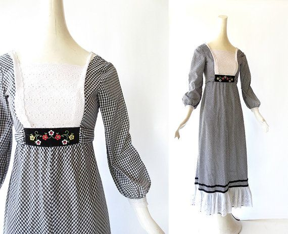 Vintage Maxi Dress Dirndl ALPENSONG By SmallEarthVintage 4200