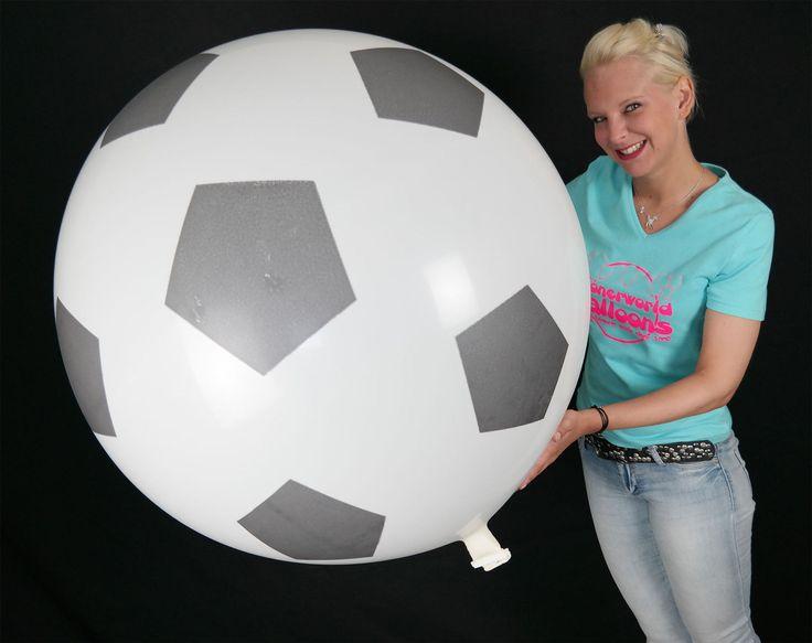 """1 x CATTEX 35"""" Riesenluftballon RIESEN FUSSBALL* GIANT FOOTBALL (Ø 90cm)   eBay"""