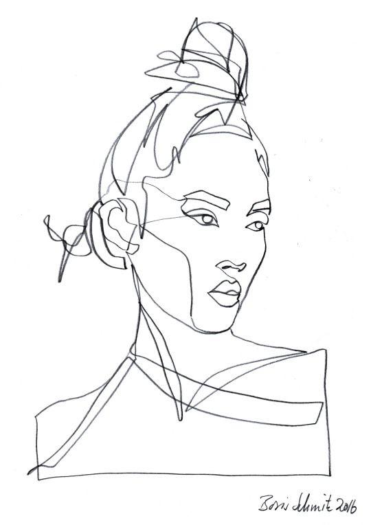Continuous Line Drawing Of Face : Boris schmitz portfolio illustration pinterest
