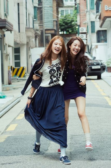 Stephanie Lee and Choi Ara for Adidas Originals by Na Sang Wook