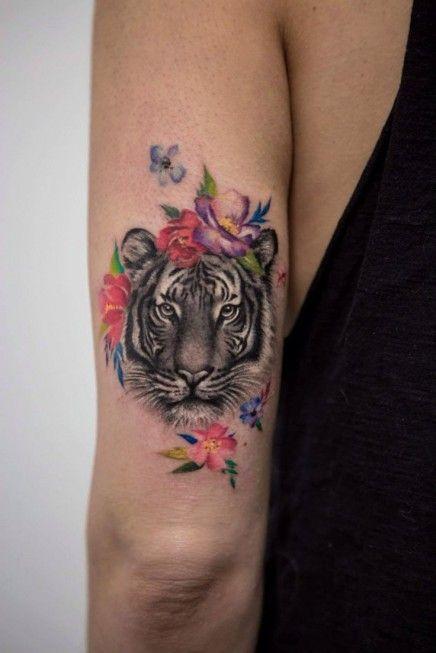 Tiger Head by Elizabeth Markov