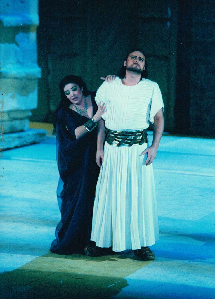 Greek opera singer Markella Hatziano as Amneris in Giuseppe Verdi's Aida