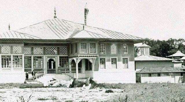 FATİHİN  KAYIP SARAY FOTOSU Edirne Sarayı'nın yıkılmadan önceki orijinal hali.-1870-EDİRNE