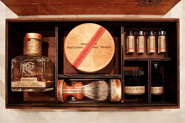 portland general store mens shaving set