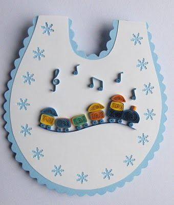Lovely quilled bib card